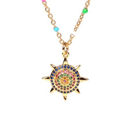 new fashion gear full diamond sun flower pendant wild clavicle chain for women NHPY257888's discount tags