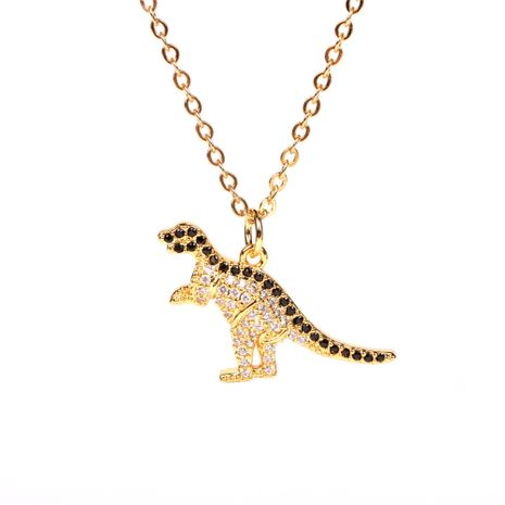new animal models full of diamonds dinosaur pendant necklace clavicle chain for women NHPY257890's discount tags
