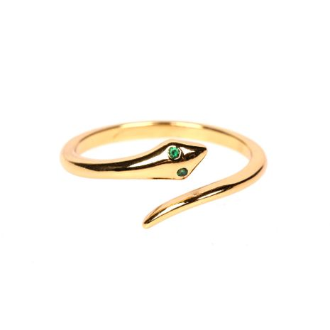 new simple open ring creative fashion snake ring wholesale NHPY257897's discount tags