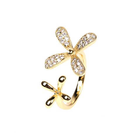 daisy petal lady open ring fashion index finger ring wholesale NHPY257905's discount tags