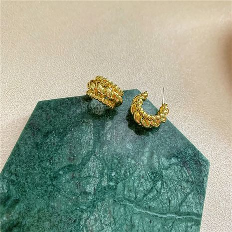 retro new  C-shaped earrings wholesale NHYQ257971's discount tags