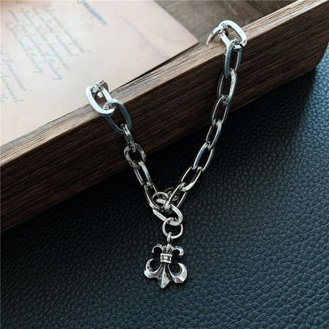 Hip-hop style  trendy Korean fashion retro old chain cross bracelet  NHYQ257979's discount tags