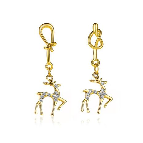 new simple deer fashion Christmas knotted elk earrings wholesale NHMO257993's discount tags