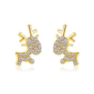 nueva moda de alces navideños simples y lindos pendientes de damas de ciervo animal NHMO258002's discount tags