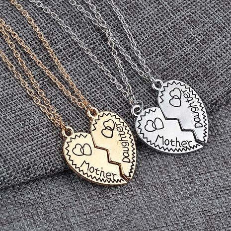 Mode neue Liebes-geformte Nähte Buchstaben Englisch Brieflegierung Halskette NHMO258036's discount tags