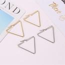 boucles d39oreilles simples gomtriques exagres triangle creux boucle d39oreille en gros NHMO258042