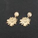 retro alloy flower long fashion earrings wholesale NHCT258058