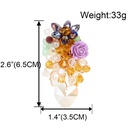 exaggerated stained glass flower earrings wholesale NHCT258067