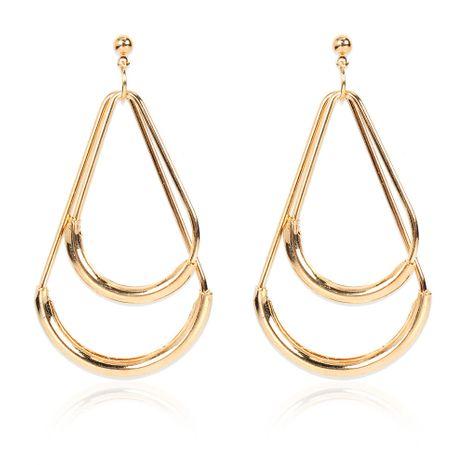 Pendientes de oro dobles en forma de gota de aleación retro de moda al por mayor NHCT258070's discount tags