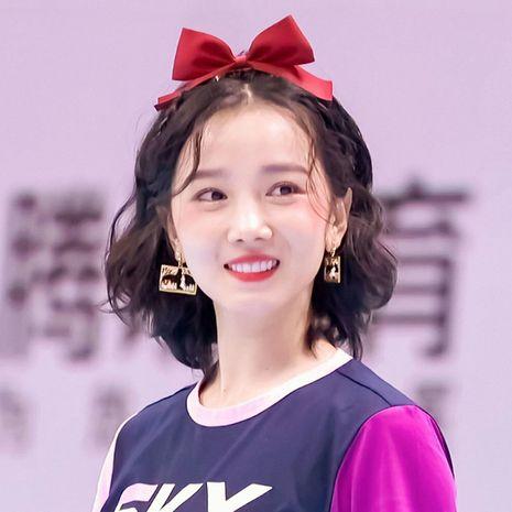Korean red cute bowknot rabbit headband  wholesale NHSA258097's discount tags