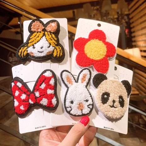 Lamb plush hairpin cute cartoon side bangs clip headdress hairpin wholesale NHSA258101's discount tags