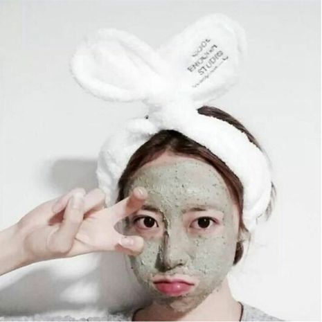 Korean face wash wide-brimmed rabbit ears embroidery headband wholesale NHSA258092's discount tags