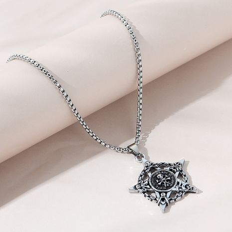 creative personality exaggerated fashion  skull necklace  NHPS258120's discount tags