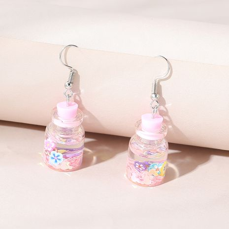 Korean fashion wild creative personality small fresh wish bottle earrings NHPS258122's discount tags