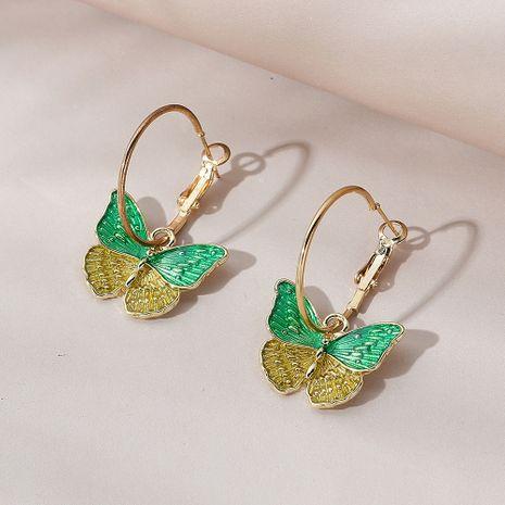 Pendientes de mariposa de flor retro salvaje fresca pequeña de moda coreana NHPS258124's discount tags