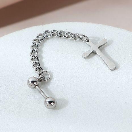 Mode kreative Persönlichkeit Kreuz einseitige Ohrringe NHPS258133's discount tags
