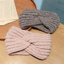 Fashion new  widebrimmed pure color knitted wool sweet go out to keep warm headband NHDQ258191