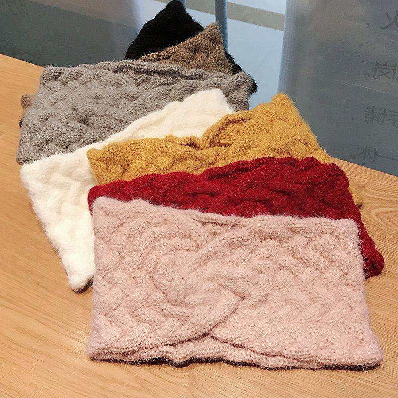 Autumn new cashmere woolen Korean widebrimmed weaving daily confinement headwear for women NHDQ258194
