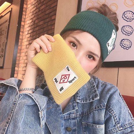 Joli bandeau femme brodé nouveau tricot coréen en laine sauvage rétro NHDQ258203's discount tags