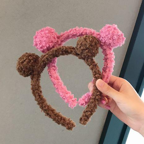 Venda coreana del pelo de las orejas de oso de la felpa del cordero al por mayor NHDQ258204's discount tags