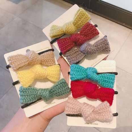 Korean new style color bow hair rope simple hair rope  wholesale NHCQ258234's discount tags