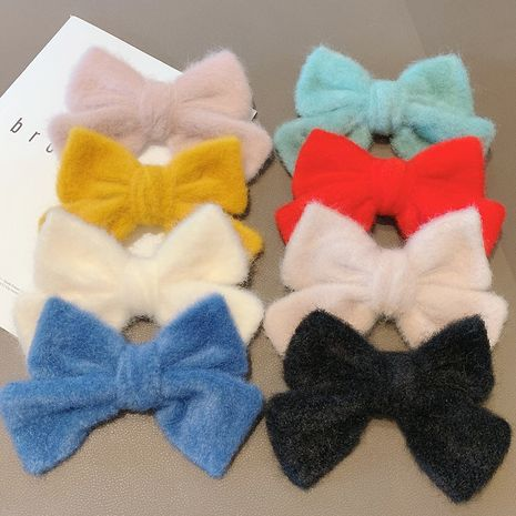 autumn and winter new Korean seahorse hair bow hairpin top clip wholesale NHCQ258236's discount tags