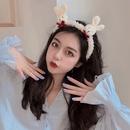 Korean new cartoon bear bunny simple and versatile hair nonslip headband wholesale NHCQ258241