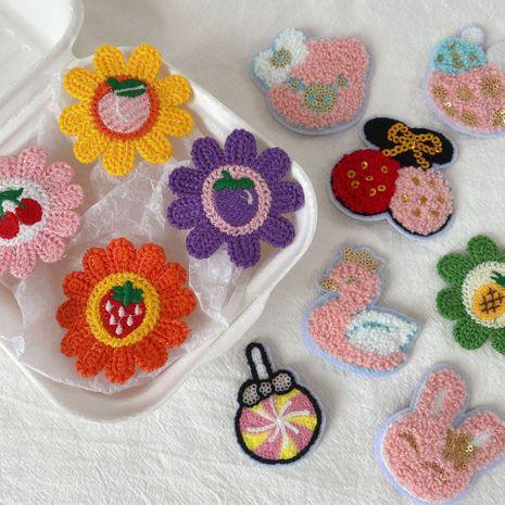 Korea new children's sun flower bb cartoon bear back head hairpin wholesale NHCQ258250's discount tags