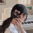 Korean headdress small side clip lattice top clip girl cute bow hairpin wholesale NHCQ258251