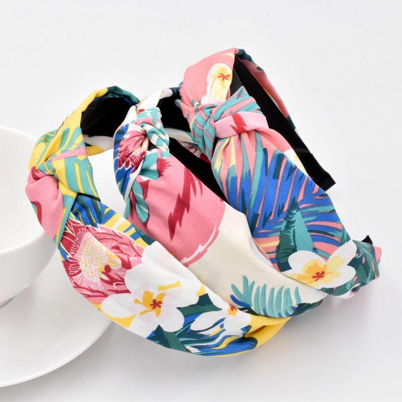 New Korean  tropical headband fashion fabric flower plant headband wholesale NHCL258258