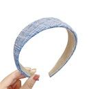 Korean girl hair tie headband plaid fabric hair accessories wholesale NHNA258259