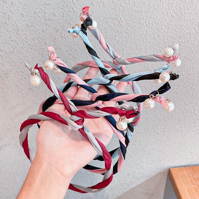 Fashion new pearl Korean girls hair rope wild headband  NHNA258262
