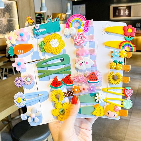 Children's hairpin side clip hairpin Baby head rope headdress set Cute side clip wholesale NHNA258266's discount tags
