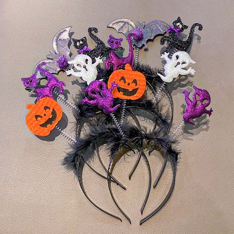 children's Halloween demon headband ghost three-dimensional duckbill clip hairpin wholesale NHNA258272's discount tags