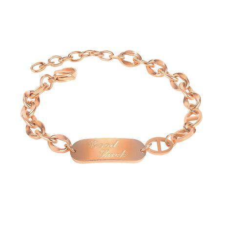 Mode nouveau bracelet de niche en acier au titane pour les bijoux de main de copines de femmes NHOP258294's discount tags