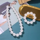 Fashion new pure handmade pearl fashion exaggerated bridal wedding set clavicle chain bracelet wholesale NHJQ258296