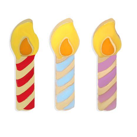 Halloween Noël cadeau d'anniversaire amusant couleur de dessin animé dégoulinant de bougies boucles d'oreilles en gros NHJQ258299's discount tags