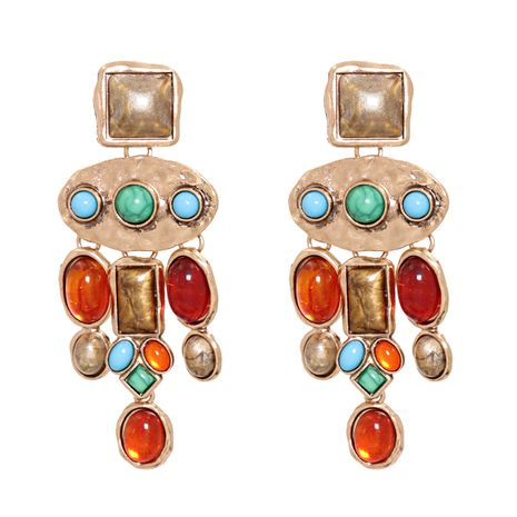 new trend fashion ethnic style color diamond tassel earrings hot-saling wholesale NHJJ258306's discount tags
