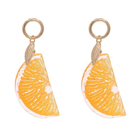 New fashion trend acrylic orange fruit earrings for women hot-saling wholesale NHJJ258311's discount tags