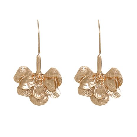 New fashion trend wild ethnic style flower alloy earrings for women NHJJ258312's discount tags