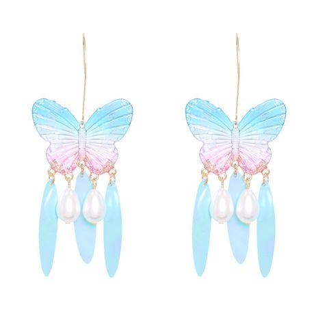 Nueva moda geométrica hoja de acrílico mariposa pendientes de perlas de gota de agua para mujeres NHJJ258315's discount tags
