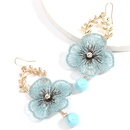 exaggerated alloy leaf lace flower beautiful earrings wholesale NHJE258327