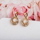 New Korea s925 silver needle geometric irregular diamond simple fashionable earrings NHQS258341