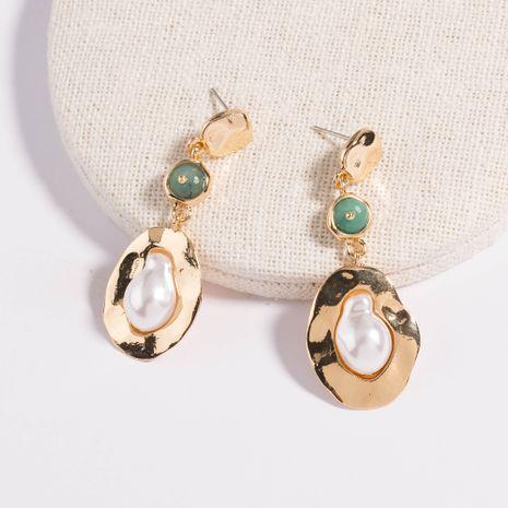 Pendientes colgantes de perlas de metal en forma de borla larga estilo callejero retro creativo al por mayor NHAN258347's discount tags