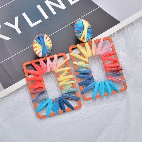 Farbe Mode Regenbogen bunte Bast Ohrringe NHBQ258386's discount tags
