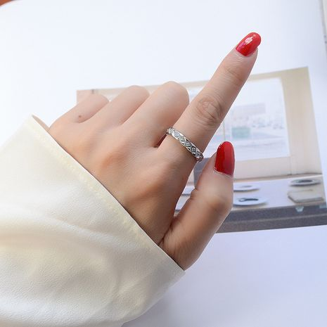 diamond mini diamond titanium steel plating rings wholesale NHOK258177's discount tags