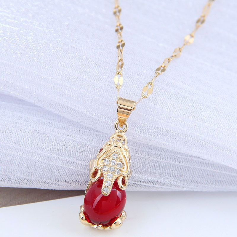 Korean new fashion  concise copper necklace for women hot-saling wholesale NHSC258359