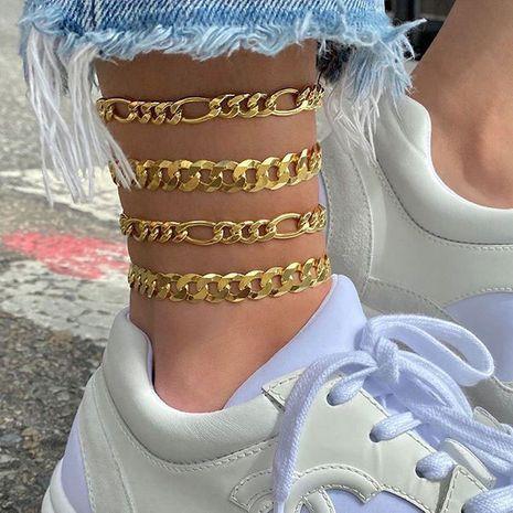 Nouvelle cheville en alliage de combinaison de chaîne de quatre pièces de mode pour les femmes NHSC258358's discount tags