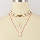 Natural shell womens multilayer necklace set NHAJ258394