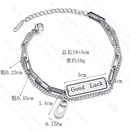 Korea Letter Pin Buckle Double Simple Lucky Trendy  titanium steel Bracelet  NHHF258403
